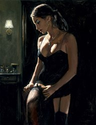 Analucia III by Fabian Perez - Limited Edition Canvas on Board sized 14x18 inches. Available from Whitewall Galleries